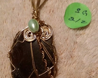 Wire wrapped seaglass jewelry