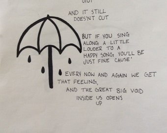 ORIGINAL BMTH happy song lyric drawing