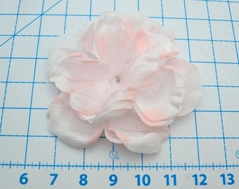 2 Pale Pink Flowers with Tulle and Nylon Petals