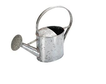 Tin watering can, creative hobbies, decoupage, medium size cm 18x8x17
