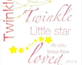 Twinkle Twinkle little star- decor