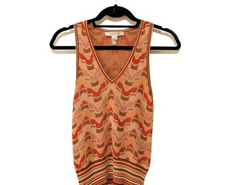 1970's MARC JACOBS Knitted Print Tank/Vest