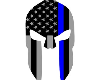 Thin Blue Line Spartan Decal