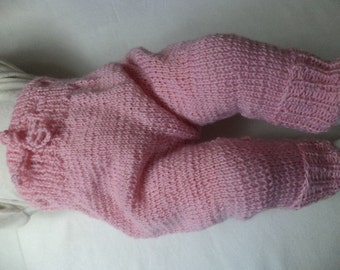 Baby pants 62/68 wool knitted pants baby pants
