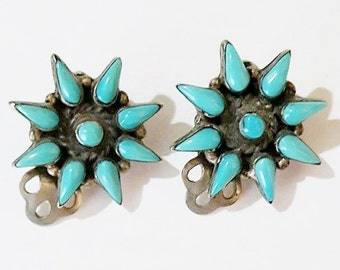 Vintage Southwest designed Clip On Earrings