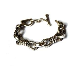 silver handmade bracelet greek jewelery 80s