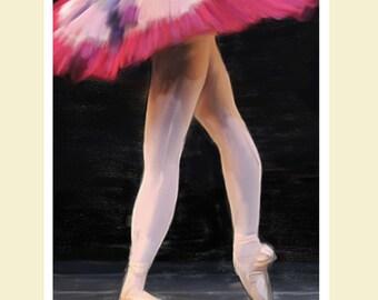Ballet, Ballet Dancer, Oil painted Ballerina legs, leg and tutu, ballerina wall art, a3 wall art ballet, ballet dancer wall art