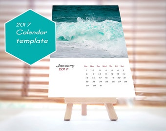 2017 Kalendervorlage,