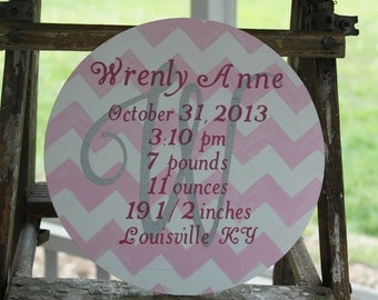 Newborn Baby Detail Sign