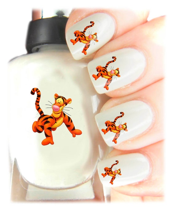 Tigger Nails: Winnie The Poo Tigger Nail Art Decal Stickers By