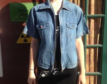 1990s Denim Short Sleeve Jacket/Top