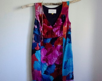 Velvet Floral Shift Dress