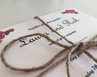 Simple Floral Invitation Set (Sample)
