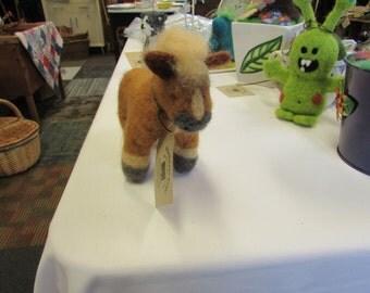 Handmade needle felted horse