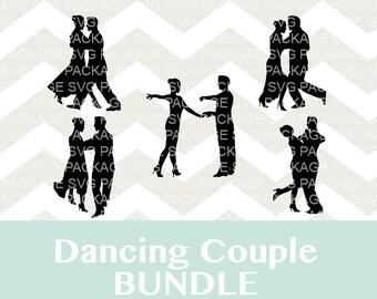 Dancing Couple SVG Bundle, Dance SVG, Tango Dancer svg, Clipart Dance competion, Dance couple Silhouette, cut files for Silhouette cricut