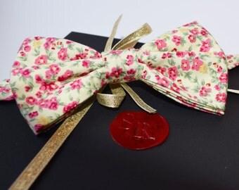 Pink Floral Men's Bow Tie