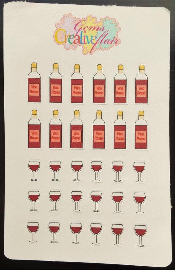 Wine Bottle/Glass Stickers
