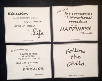 Montessori quote magnets -- 4 pack (decorative)