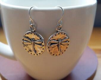 Dragonfly Earrings, Earrings, Boho Earrings, Gardener Jewelry, Delicate Earrings, Hypoallergenic Earrings, Dragonfly, Silver Earrings