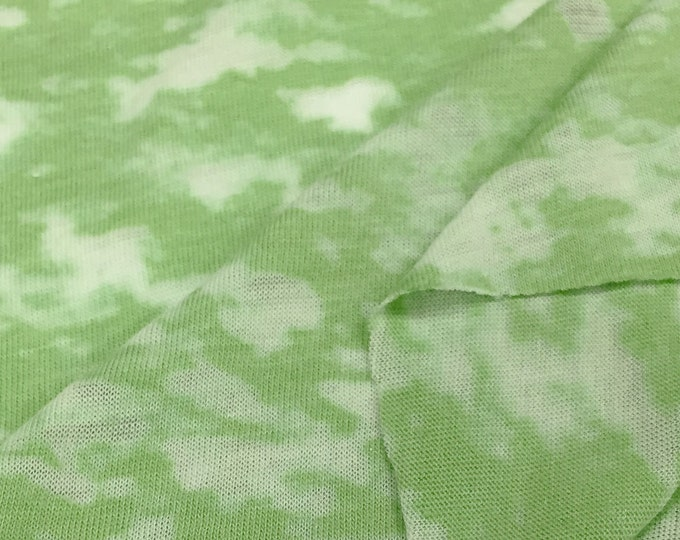 Cotton Blend Burnout Jersey Knit Fabric (Wholesale Price Available By the Bolt) USA Made Premium Quality - 2840PC - 1 Yard