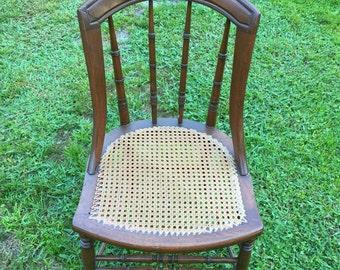 Antique cane seat chair