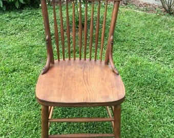 Wood spindle back chair