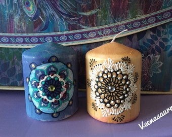 Pillar Henna Inspired Candles