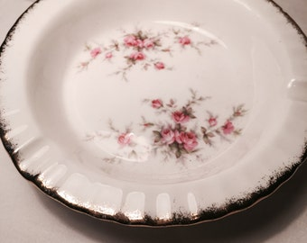 Pink Floral ashtray