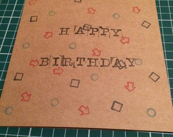 """6"""" x 6"""" Shapes Birthday Card with Envelope"""