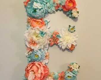 Flower covered letter