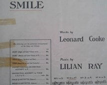 """More than 100 years old! Piano music for """"The Sunshine of Your Smile""""."""