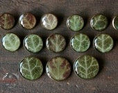 Buttons with ivy under the cast epoxy resin. Forest Jewelry. Botanical Buttons.  Green Button. Nature Inspired.