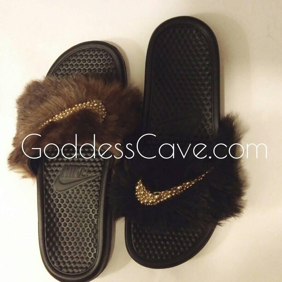 Fur Nike Slides