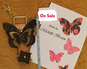 Butterfly Purse Charm- made of Louis Vuitton authentic pieces- One of a kind
