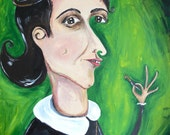 My Dearest Kitty (Anne Frank Duck-face) print