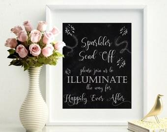 70% OFF Sparkler send off printable wedding sign, chalkboard sparkler sign, let love sparkle sign, digital wedding reception sign, black