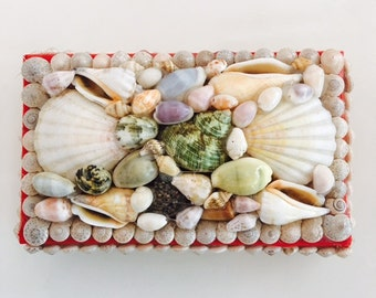 reserved Vintage Seashell box
