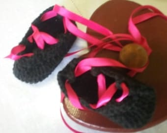Ballet style baby shoes
