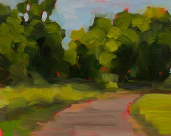 Summer Road - Landscape Painting - Oil on Panel