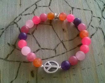 ⭐ Jade ⭐ pink ⭐ peace bracelet