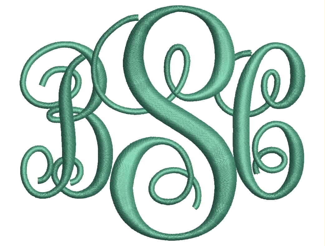 machine embroidery monogram fonts free