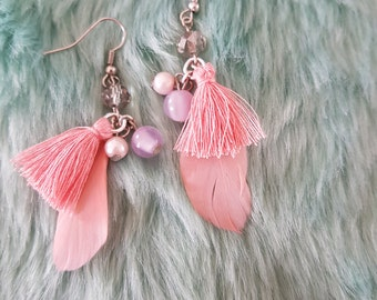 Earrings//Pink