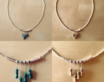 Resistors Necklace / necklace with resistors