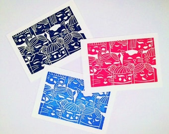 Tokyo Crowd Greeting Cards (Set of 3)