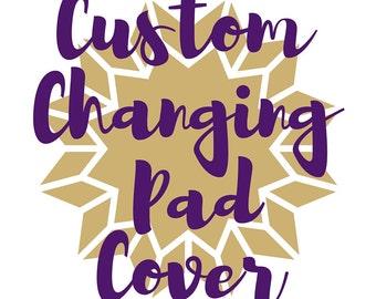 Custom Changing Pad Cover. Custom Change Pad. Changing Pad Cover. Custom Baby Gift. Choose Your Fabric Changing Pad Cover.