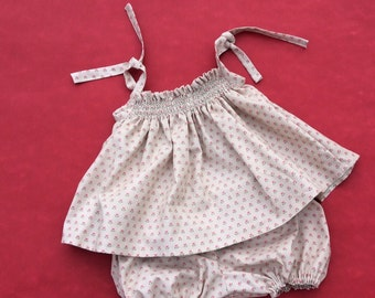 ALL baby girl blouse and bloomer, handmade