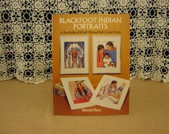 Winold Reiss Blackfoot Indian Portraits original set of 6