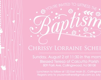 Female Baptism Invitation
