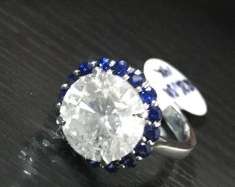 1930's Diamond and Saphire Ring