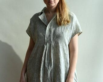 Linen Blouse, Loose Linen Shirt, Plus Size Blous, Plus size Top, Lightweight Shirt